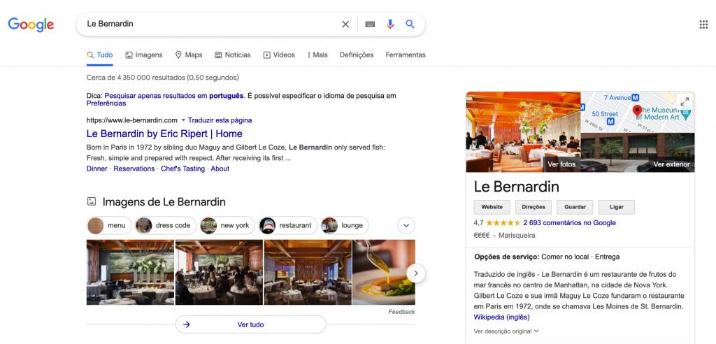 print pesquisa google